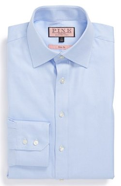 Slim Fit Dress Shirt by Thomas Pink in New Year's Eve