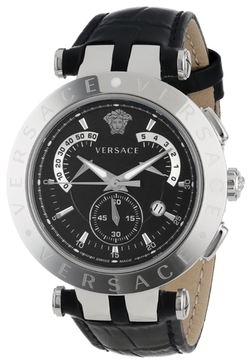 """V-Race"" Stainless Steel Watch With Leather Band by Versace in Ballers"
