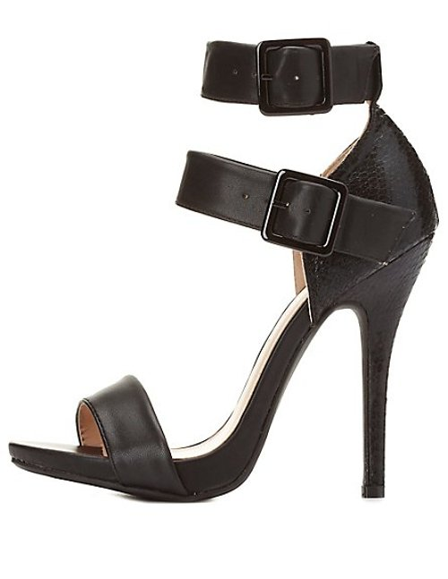 Double Ankle Straps Sandals by Wild Diva Lounge in Get Hard