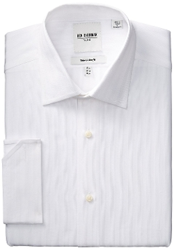 Textured Stripe French Cuff Dress Shirt by Ben Sherman in Dope