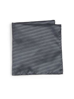 Abstract Check Print Pocket Square by Armani Collezioni in Suits
