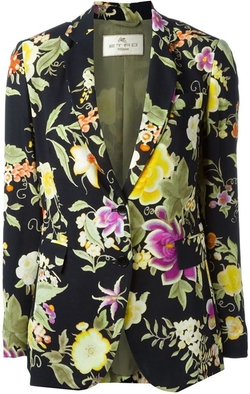 Floral Print Blazer by Etro in Empire