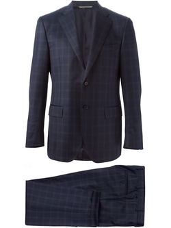 Two-Piece Check Suit by Canali in Suits