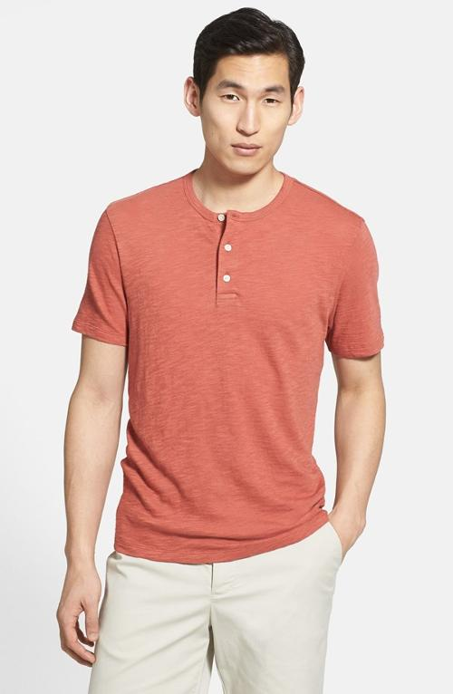 Slub Henley T-Shirt by Vince in Project Almanac