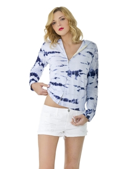 Bamboo Tie Dye Hoodie by Monrow in Pretty Little Liars