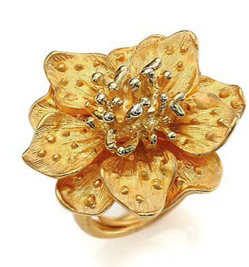 Anemone Flower Ring by Kenneth Jay Lane in Pretty Little Liars