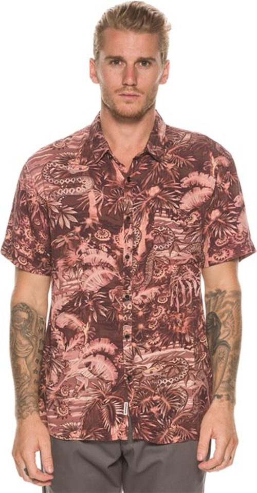 Python Jungle Short Sleeve Shirt by Quiksilver in Neighbors 2: Sorority Rising