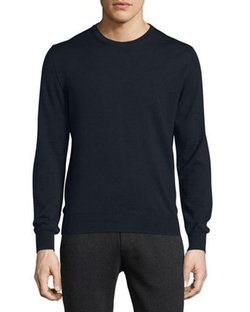 Virgin Wool Logo Crewneck Sweater by Moncler in Jason Bourne