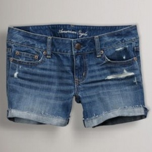 Denim Destroyed Midi Short by American Eagle Outfitters in Pretty Little Liars - Season 6 Episode 2