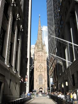 New York City, New York by Trinity Church (Manhattan) in The Dark Knight Rises