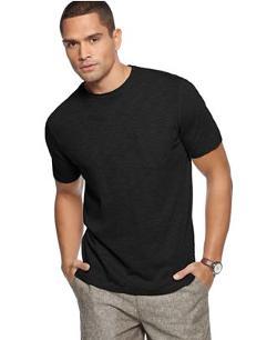 Short Sleeve Slub Crew Neck Pocket T-Shirt by Tasso Elba Island in Neighbors