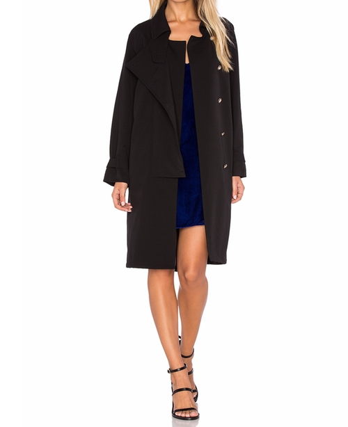 Cecil Button Coat by Line & Dot in How To Get Away With Murder - Season 3 Episode 4