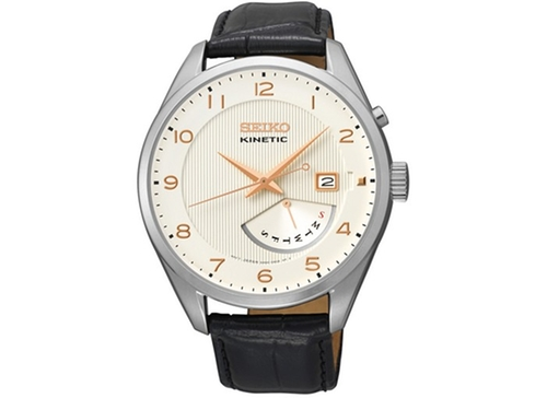 Kinetic Retrograde Leather Strap Watch by Seiko in Crazy, Stupid, Love.