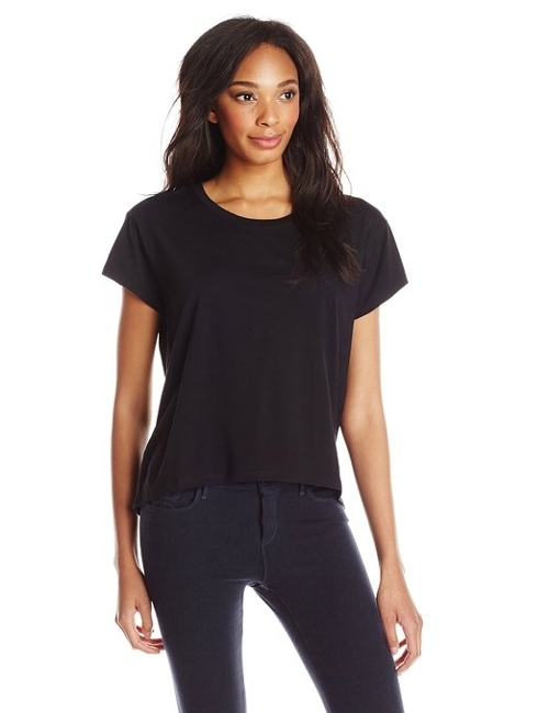 Modal Crew Neck Short Sleeve T Shirt by Alternative in Barely Lethal
