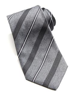 Wide Dotted Stripe Tie by Armani Collezioni in Yves Saint Laurent