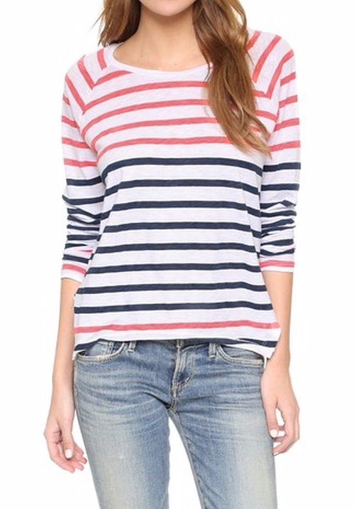 Boxy Long Sleeve T-Shirt by Sundry in Bad Moms