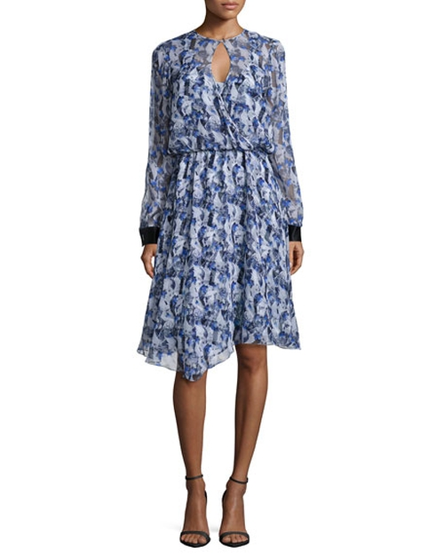 Long-Sleeve Floral-Print Dress by Prabal Gurung in American Horror Story