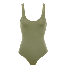 Luca Khaki Seamless Knit Stretch Bodysuit by House of CB in Keeping Up With The Kardashians