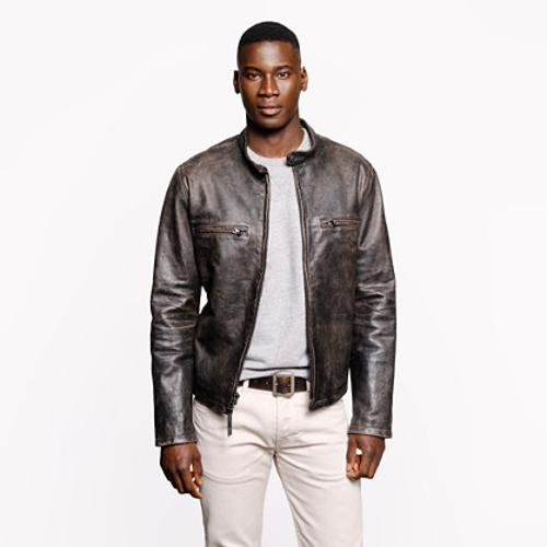 Stockton Racer Jacket by J.Crew in Contraband