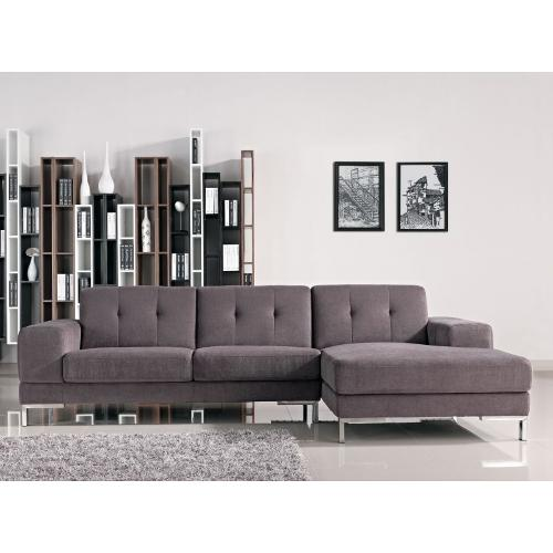 L Shape Gray Fabric Sectional Sofa by VIG Furniture in The Other Woman