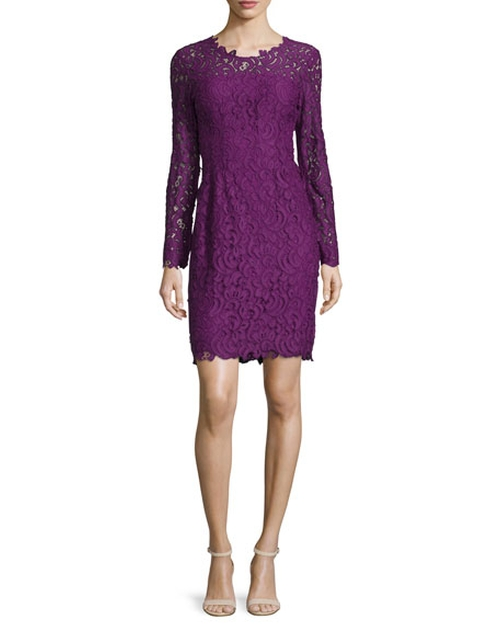 Bellamy Lace Long-Sleeve Dress by Elie Tahari in Supergirl - Season 1 Episode 3