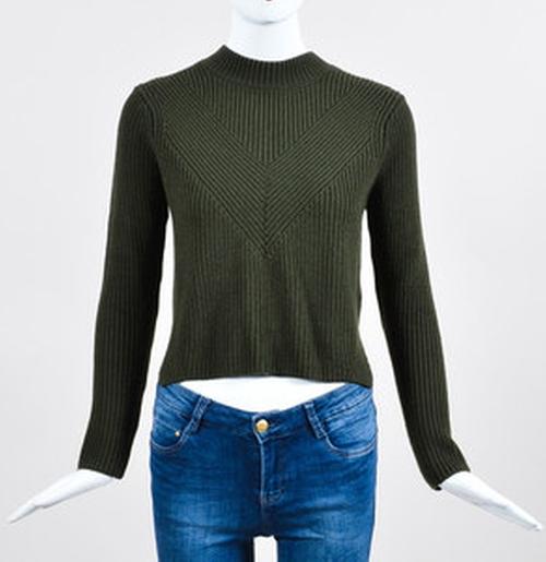 Knit Zip Back Cropped Sweater by Sandro in Pretty Little Liars - Season 7 Episode 5