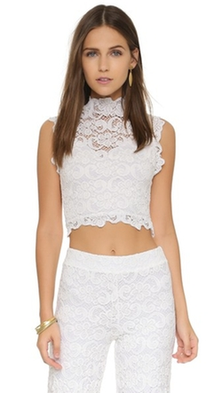 Dixie Lace Crop Top by Nightcap X Carisa Rene in Nashville