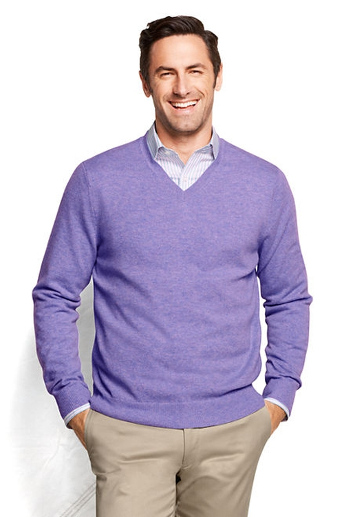 Men's Gauge Cashmere V-Neck Sweater by Land's End in X-Men: Apocalypse