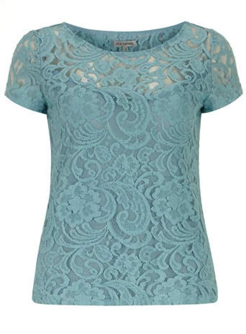 Sea Blue Lace T-Shirt by Alice & You in We're the Millers
