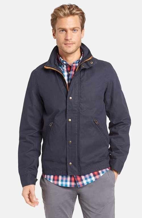 Harrington Wax Canvas Jacket by Jack Spade in That Awkward Moment