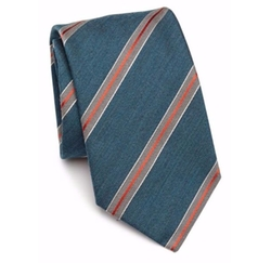 Striped Wool & Silk Tie by Eton of Sweden in Scream Queens
