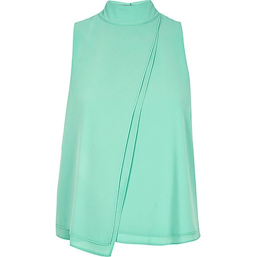 Chiffon High Neck Top by River Island in Vinyl - Season 1 Episode 1