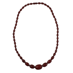 Bakelite Graduate Oval Bead Necklace by Heirloom Finds Vintage in The Second Best Exotic Marigold Hotel