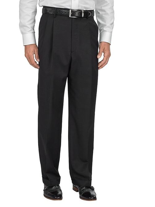 Wool \ Silk Pleated Pants by Paul Fredrick in Love Actually