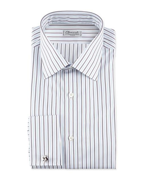 Striped French-Cuff Poplin Dress Shirt by Charvet in Frank Miller's Sin City: A Dame To Kill For