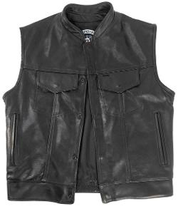 Men's Outlaw Sons of Anarchy Style Motorcycle Vest with Gun Pockets by Legendary USA in The Expendables 3