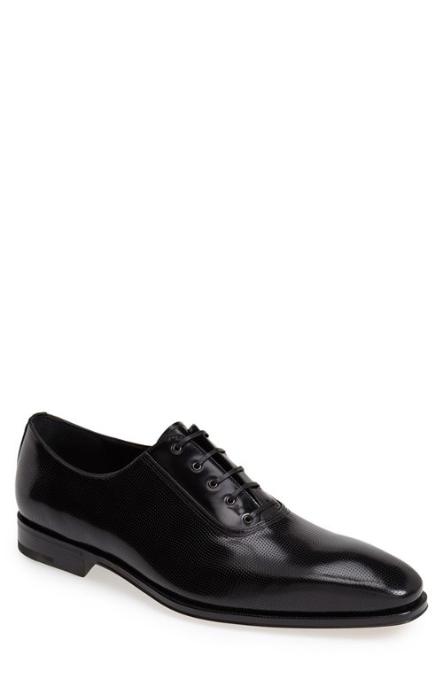 Nikol Perforated Leather Oxford Shoes by Salvatore Ferragamo in The Loft