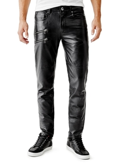Tapered Leather Moto Pants by Guess in American Horror Story