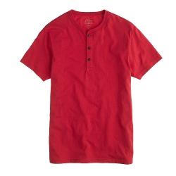 Slim Broken-In Short-Sleeve Henley Shirt by J.Crew in McFarland, USA