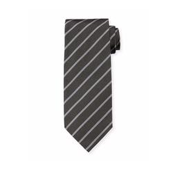 Neat Diagonal-Stripe Silk Tie by Tom Ford in Billions