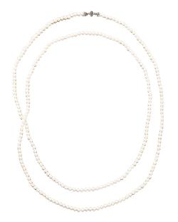 Pearl Necklace by Lagos in Yves Saint Laurent