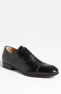 'Salem' Cap Toe Oxford Shoes by Santoni in Suits