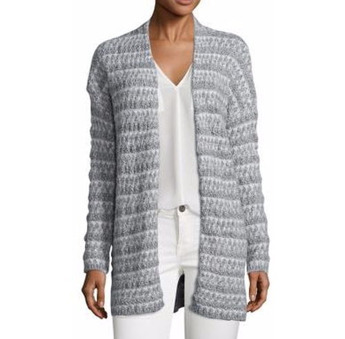 Lerado Mohair Blend Textural Stripe Cardigan by Joie in Suits - Season 5 Episode 10