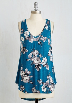 Infinite Options Top In Cerulean by ModCloth in Black-ish