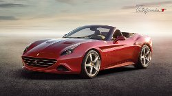 California T Sports Car by Ferrari in The Counselor
