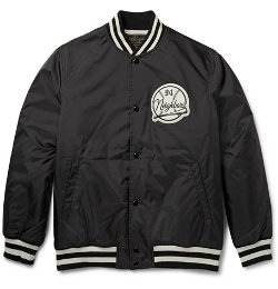 Appliquéd Shell Varsity Jacket by Neighborhood in The Town