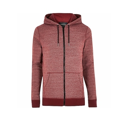 Zip Marl Hoodie by River Island in Flaked