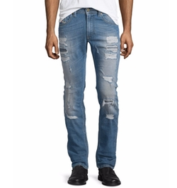 Thavar Destroyed Slim Jeans by Diesel in Empire