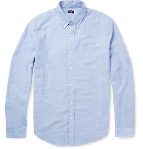 Button-Down Collar Cotton Oxford Shirt by J.Crew in Neighbors