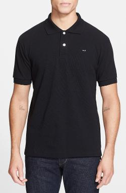 Piqué Polo with Small Heart Appliqué by Comme des Garçons in No Strings Attached